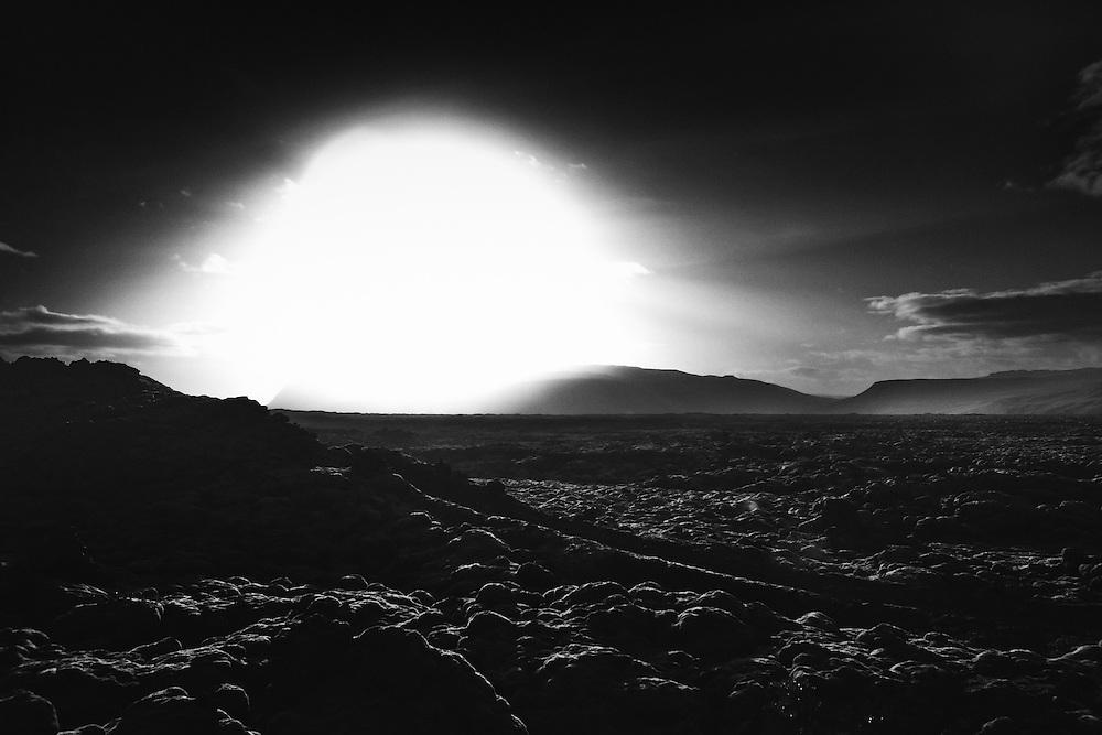 Sundown over Eldhraun