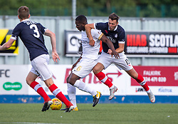 Falkirk's Lewis Toshney hold Livingston Marvin Bartley. Falkirk 1 v 1 Livingston, Livingston win 4-3 on penalties. BetFred Cup game played 13/7/2019 at The Falkirk Stadium.