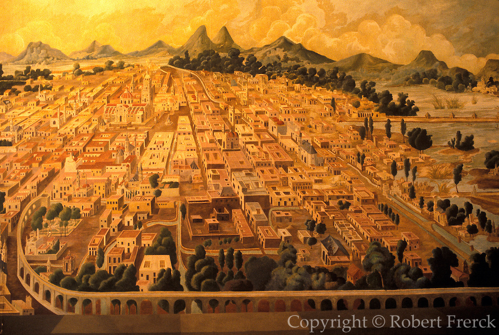 MEXICO, MUSEUM OF MEXICO CITY plan showing Mexico City in 1693