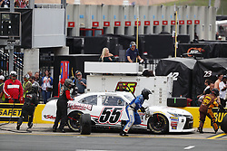 May 26, 2018 - Concord, North Carolina, United States of America - Brandon Hightower (55) brings his car down pit road for service during the Alsco 300 at Charlotte Motor Speedway in Concord, North Carolina. (Credit Image: © Chris Owens Asp Inc/ASP via ZUMA Wire)
