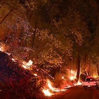 CZU August Lightning Complex fires along China Grade Road north of Boulder Creek. (Shmuel Thaler - Santa Cruz Sentinel)
