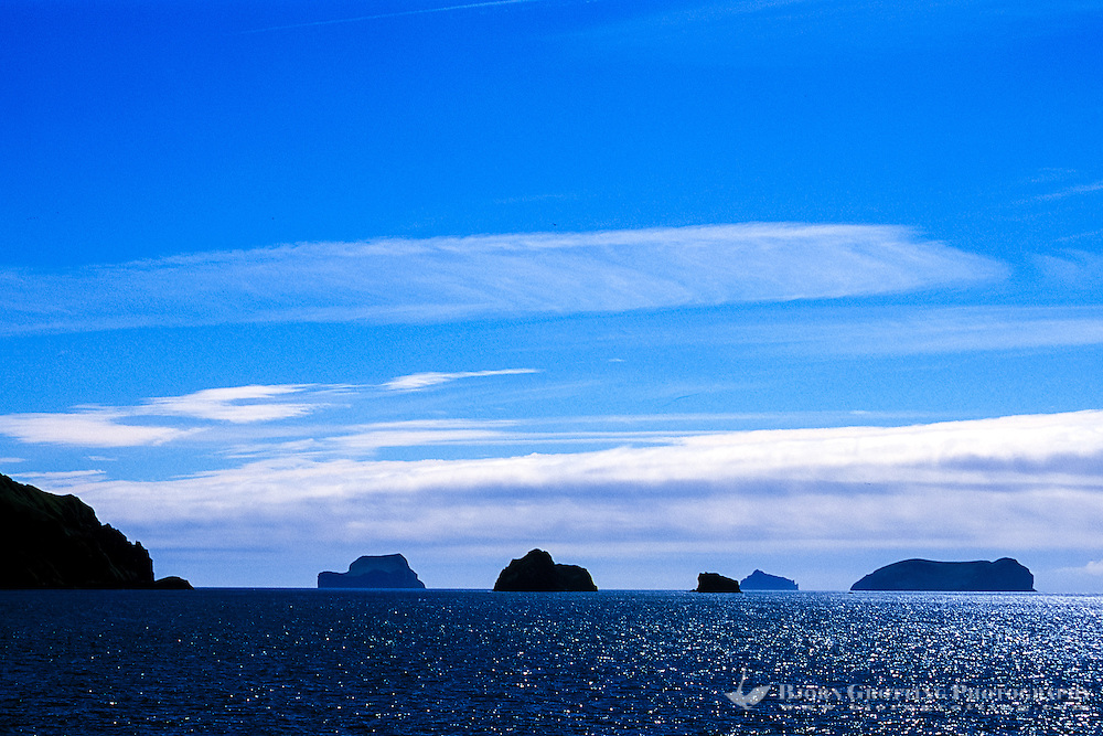 Vestmannaeyjar Islands off the south coast of Iceland. Rocks close to Heimaey.