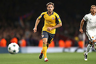Nacho Monreal of Arsenal in action. UEFA Champions league group A match, Arsenal v FC Basel at the Emirates Stadium in London on Wednesday 28th September 2016.<br /> pic by John Patrick Fletcher, Andrew Orchard sports photography.