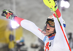 "29.01.2019, Planai, Schladming, AUT, FIS Weltcup Ski Alpin, Slalom, Herren, 2. Lauf, im Bild Ramon Zenhaeusern (SUI) // reacts after his 2nd run of men's Slalom ""the Nightrace"" of FIS ski alpine world cup at the Planai in Schladming, Austria on 2019/01/29. EXPA Pictures © 2019, PhotoCredit: EXPA/ Erich Spiess"