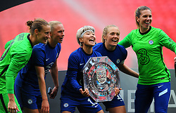 Chelsea Women lift the FA Women's Community Shield after beating Manchester City Women 2-0 - Mandatory by-line: Nizaam Jones/JMP - 29/08/2020 - FOOTBALL - Wembley Stadium - London, England - Chelsea v Manchester City - FA Women's Community Shield