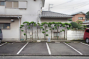 car parking in a Japanese residential neighborhood