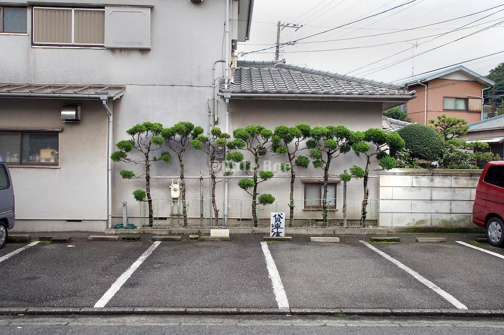 car parking in a Japanese residential neighborhood