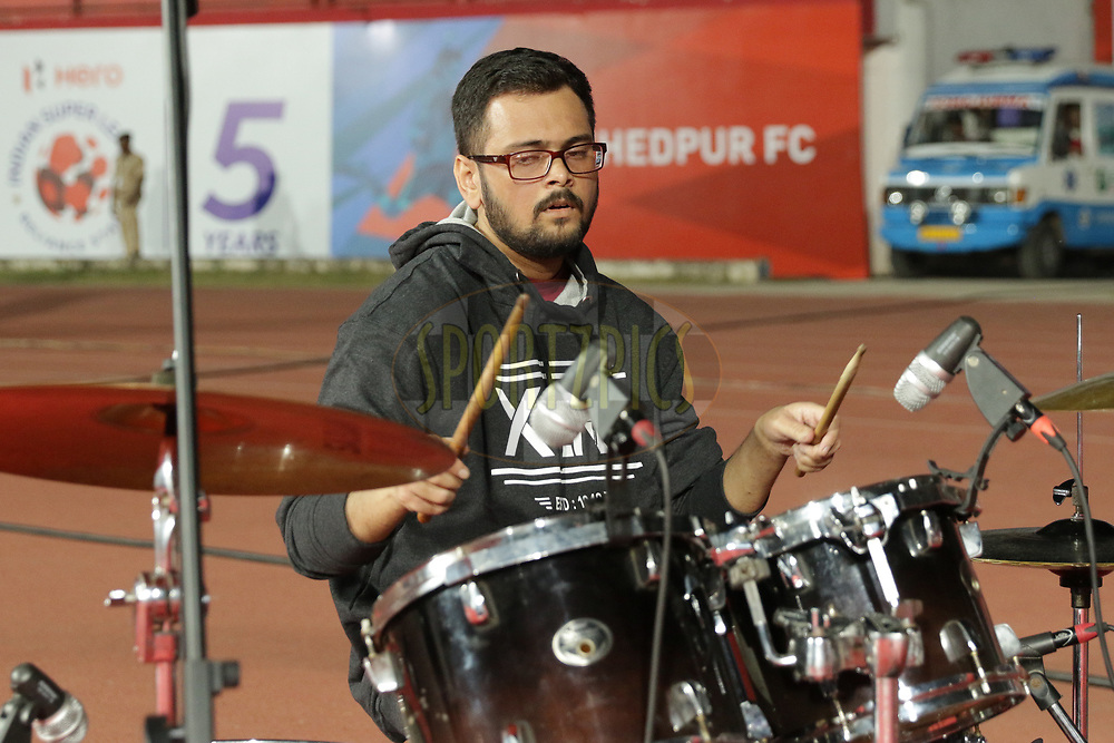 Local music band performing during match 25 of the Hero Indian Super League 2018 ( ISL ) between Jamshedpur FC and FC Goa held at JRD Tata Sports Complex, Jamshedpur, India on the 1st November  2018<br /> <br /> Photo by Saikat Das /SPORTZPICS for ISL