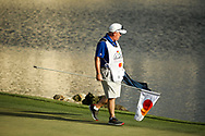 Tyrrell Hatton (ENG) caddy  Michael Donaghy on the 18th during the final round of the Arnold Palmer Invitational presented by Mastercard, Bay Hill, Orlando, Florida, USA. 08/03/2020.<br /> Picture: Golffile   Scott Halleran<br /> <br /> <br /> All photo usage must carry mandatory copyright credit (© Golffile   Scott Halleran)