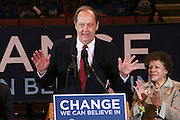 New Jersey Senator Bill Bradley at Presidental Candidate Barack Obama Rally at The Izod Center at the Meadowlands in New Jersey on February 4, 2008