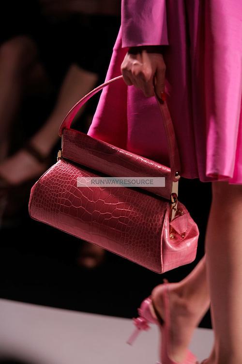 Amanda Lopes walks the runway  at the Christian Dior Cruise Collection 2008 Fashion Show