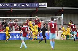 Liam Armstrong of Bristol Rovers XI clears the ball - Mandatory by-line: Paul Knight/JMP - 18/07/2017 - FOOTBALL - Viridor Stadium - Taunton, England - Taunton Town v Bristol Rovers XI - Pre-season friendly
