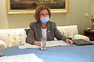 021021 The former Queen Sofia attends a virtual meeting