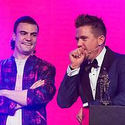 NLD/Amsterdam//20140331 - Uitreiking Edison Pop 2014, Johnny de Mol en de staat