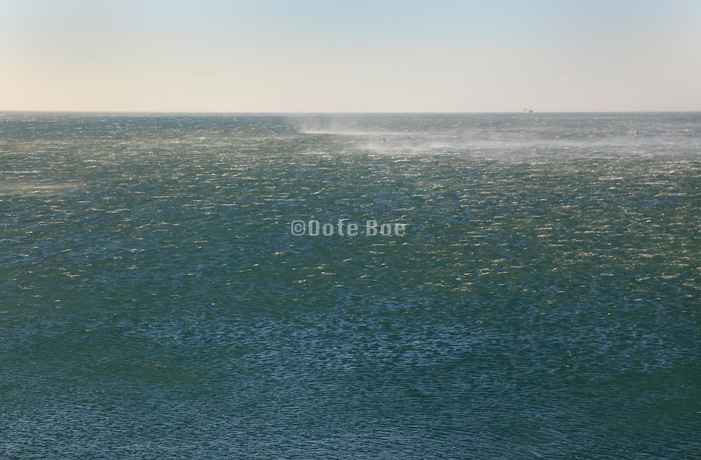 wind blowing up sea water