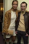 Lady Victoria hervey and Scott henshall. NSPCC Berkeley Dress Show,  Savoy. 9 april 2001. © Copyright Photograph by Dafydd Jones 66 Stockwell Park Rd. London SW9 0DA Tel 020 7733 0108 www.dafjones.com
