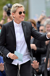 Ellen DeGeneres attends the ceremony honoring Chris Kirkpatrick, Lance Bass, Joey Fatone, JC Chasez and Justin Timberlake of NSYNC with a star on the Hollywood Walk of Fame on April 30, 2018 in Los Angeles, California. Photo by Lionel Hahn/ABACAPRESS.COM