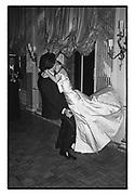 Lucinda West dancing with Olivier de Fallentons. James McMullen's 30th birthday. Clivenden. 24 October 1986. Film 86861f8