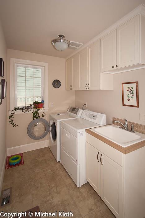 First floor laundry room/mud room.