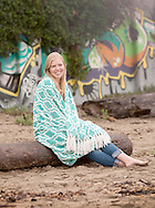 Vacaville High School Girls Deluxe Senior Portrait session at the beach by Kristina Cilia Photography in Vacaville