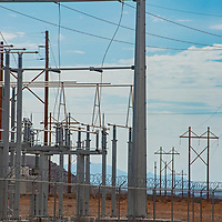 An electrical substation near Bears Ears National Monument in southeastern Utah, recently downsized by the Trump administration to allow gas & energy production.