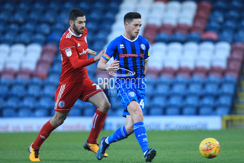 Ian Henderson attacks during the EFL Sky Bet League 1 match between Rochdale and Accrington Stanley at Spotland, Rochdale, England on 24 November 2018.