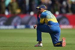 Sri Lanka's Danushka Gunathilaka during the ICC Champions Trophy, Group B match at Cardiff Wales Stadium.