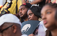 Mother of Eric Harris, who was killed by police in New Orleans in Febuary this year, at a protest in New Orleans at Lee Circle against police brutality following the killing of Alton Sterling in Baton Rouge and Philando Castile in Minnesota on July 8, the day after 5 police officers will killed by a sniper in Dallas.