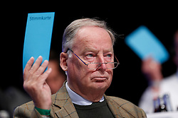 30.04.2016, Messe, Stuttgart, GER, 5. Bundesparteitag der AfD, im Bild Dr. Alexander Gauland, Stellvertretender Vorsitzender der AFD // during the 5th party convention of the Alternative for Germany (AfD) at the Messe in Stuttgart, Germany on 2016/04/30. EXPA Pictures © 2016, PhotoCredit: EXPA/ Sammy Minkoff<br /> <br /> *****ATTENTION - OUT of GER*****