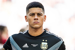 June 16, 2018 - Moscow, Russia - 180616 Marcos Rojo of Argentina prior the FIFA World Cup group stage match between Argentina and Iceland on June 16, 2018 in Moscow..Photo: Petter Arvidson / BILDBYRÃ…N / kod PA / 92068 (Credit Image: © Petter Arvidson/Bildbyran via ZUMA Press)