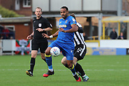 AFC Wimbledon midfielder Liam Trotter (14) dribbling during the EFL Sky Bet League 1 match between AFC Wimbledon and Rochdale at the Cherry Red Records Stadium, Kingston, England on 30 September 2017. Photo by Matthew Redman.