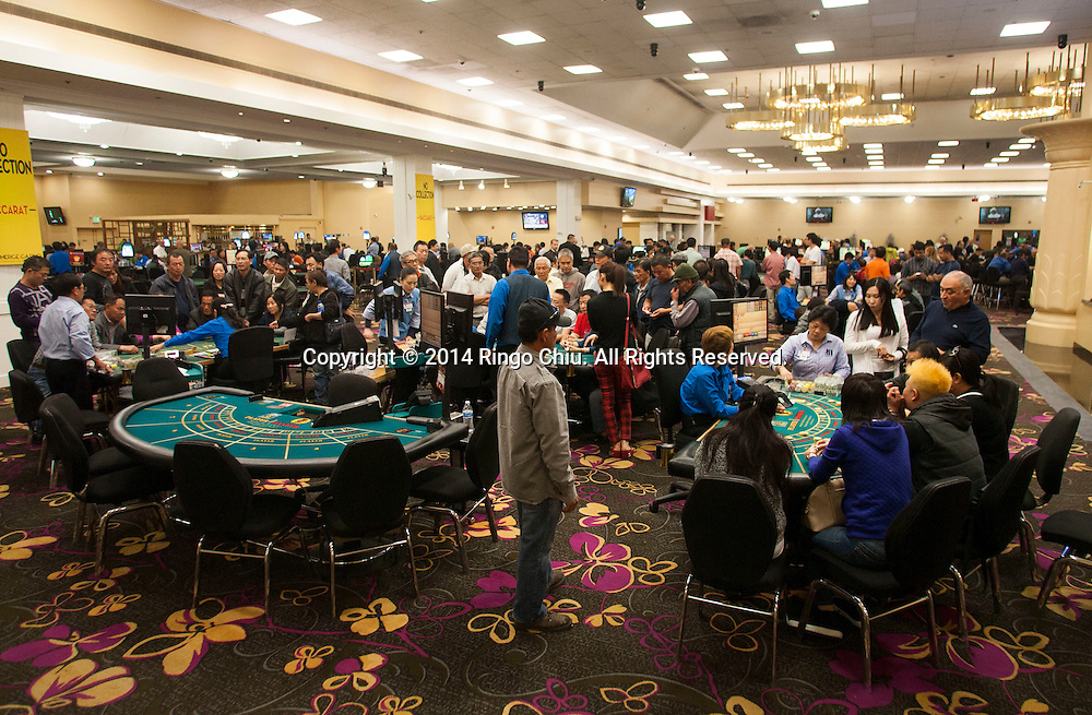 The no-collection baccarat table in the Commerce Casino.(Photo by Ringo Chiu/PHOTOFORMULA.com)