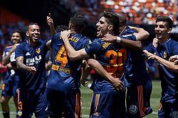 May 20, 2018 - Valencia, Valencia, Spain - Valencia CF players celebrate the victory during the La Liga game between Valencia CF and Deportivo de la Coruna at Mestalla on May 20, 2018 in Valencia, Spain  (Credit Image: © David Aliaga/NurPhoto via ZUMA Press)