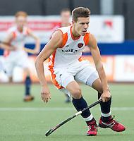 DEN BOSCH -   Jelle Galema tijdens de wedstrijd tussen de mannen van Jong Oranje  en Jong Engeland, tijdens het Europees Kampioenschap Hockey -21. ANP KOEN SUYK