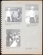 page from a photo album with kitchen joking USA 1946