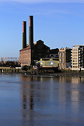 The disused Chelsea Power Station, nestled between Chelsea Harbour and Chelsea Wharf
