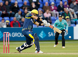 Glamorgan's Colin Ingram<br /> <br /> Photographer Simon King/Replay Images<br /> <br /> Vitality Blast T20 - Round 14 - Glamorgan v Surrey - Friday 17th August 2018 - Sophia Gardens - Cardiff<br /> <br /> World Copyright © Replay Images . All rights reserved. info@replayimages.co.uk - http://replayimages.co.uk