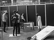 Exhibition visitors In a virtual environment of Whist, Whist offer to take the viewers into a journey into the unconscious mind, Virtual Reality Show, Business Design Centre, Islington. London.  20 April 2017
