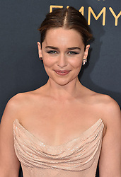 Emilia Clarke attends the 68th Annual Primetime Emmy Awards at Microsoft Theater on September 18, 2016 in Los Angeles, California. Photo by Lionel Hahn/ABACAPRESS.COM