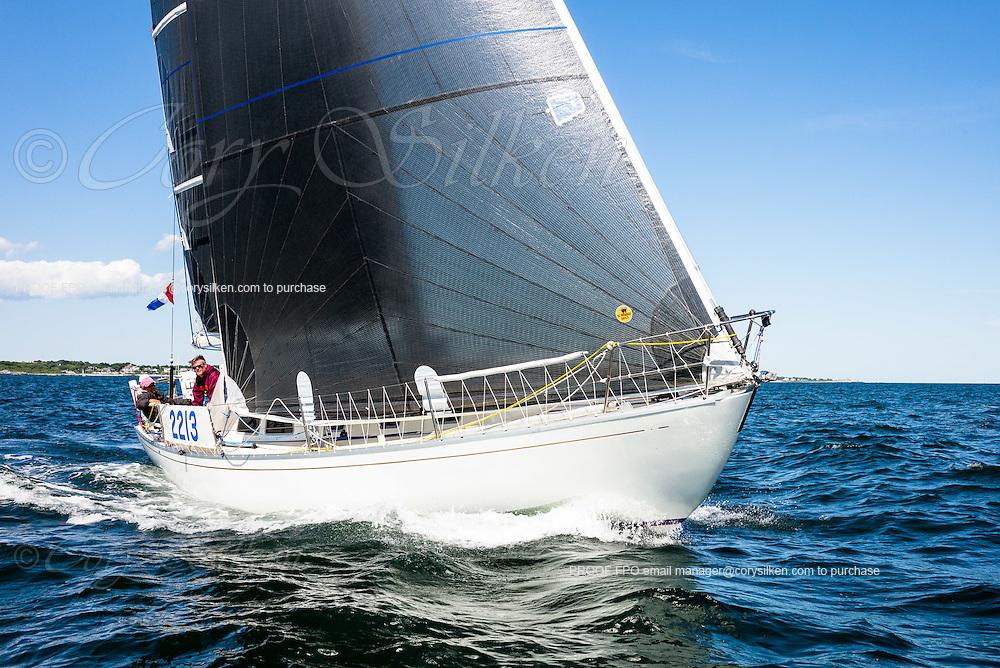 Flyer sailing in the Newport Bermuda Race.
