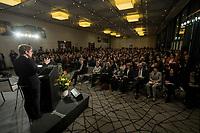 """14 JAN 2019, BERLIN/GERMANY:<br /> Annegret Kramp-Karrenbauer, CDU Bundesvorsitzende, haelt eine Rede, Veranstaltung der Konrad-Adenauer-Stiftung, KAS, """"Frauenpolitik - Auftrag fuer morgen!"""", Sheraton Hotel <br /> IMAGE: 20190114-01-034"""