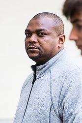 Juma Ali Omar outside Westminster Magistrates Court where he appeared on charges of dangerous driving, not having insurance and driving otherwise than in accordance with a licence. Omar, 43, mowed down and injured 11 people in an accident outside the Natural History museum in on October 7th 2017. London, May 04 2018.