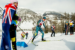 February 3, 2018 - Goms, SWITZERLAND - 180203 Seve de Campo of Australia competes in the men's 4x5 km relay during the FIS Nordic Junior World Ski Championships on February 3, 2018 in Obergoms..Photo: Vegard Wivestad GrÂ¿tt / BILDBYRN / kod VG / 170099 (Credit Image: © Vegard Wivestad Gr¯Tt/Bildbyran via ZUMA Press)