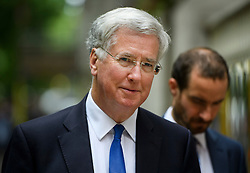 © Licensed to London News Pictures. 04/07/2016. London, UK. Defence secretary and supporter of Theresa May's leadership campaign, MICHAEL FALLON seen in Westminster, London on July 4, 2016. . Photo credit: Ben Cawthra/LNP