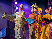15 JUNE 2105 - NARATHIWAT, NARATHIWAT, THAILAND:  Cultural performers at a fair in Narathiwat to celebrate 100 years of Narathiwat. The city has been a Muslim city for centuries, but when Siam (now Thailand) annexed the three southern provinces they changed the name to Narathiwat.     PHOTO BY JACK KURTZ