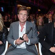 NLD/Amsterdam/20140303 - Uitreiking TV Beelden 2014, Linda de Mol, Johnnie de Mol en John de Mol met zijn Ouvre Award
