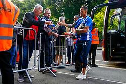 Kyle Bennett of Bristol Rovers arrives at Loftus Road prior to kick off - Mandatory by-line: Ryan Hiscott/JMP - 28/08/2018 - FOOTBALL - Loftus Road - London, England - Queens Park Rangers v Bristol Rovers - Carabao Cup