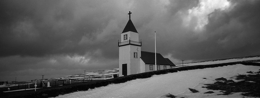 The church at the island Grimsey, north of Iceland - Kirkjan  í Grímsey