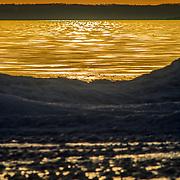Late Winter Sunset Over Lake Michigan