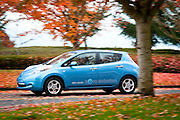 Several thousand interested drivers turned out to test drive the 100% electric Nissan LEAF as the mass produced EV makes it's debut in North America.